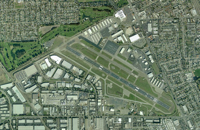 Hayward Hangars at Hayward Executive Airport